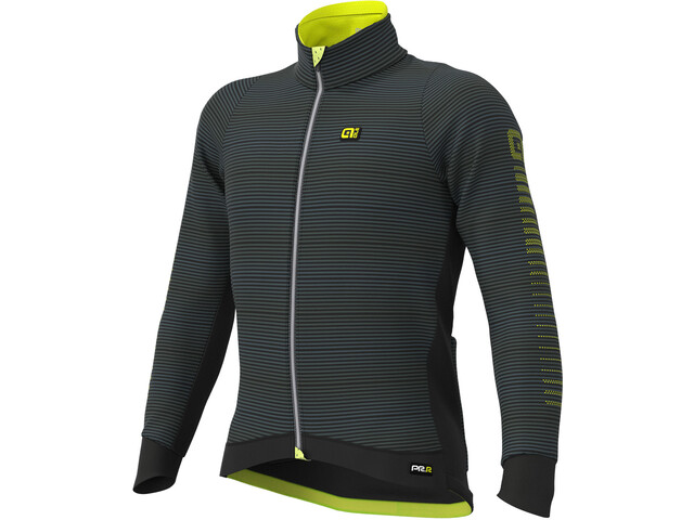 Alé Cycling Graphics PRR Thermo Road DWR Chaqueta Hombre, black/fluo yellow